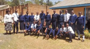 The Water Project:  Headteacher And Students