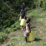 The Water Project: Shitungu Community A -  Waiting To Fetch Water