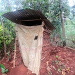 The Water Project: Emabungo Community -  Newly Built Latrine
