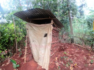 The Water Project:  Newly Built Latrine