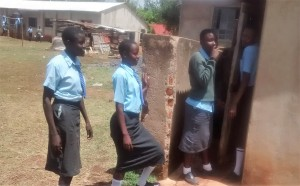 The Water Project:  Girls Waiting For Latrines