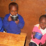 The Water Project: Essunza Primary School -  Ecd Eating Porridge