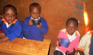 The Water Project:  Ecd Eating Porridge