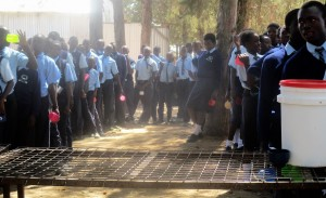 The Water Project:  Students Lined Up For Tea