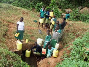 The Water Project : 12-kenya4666-fetching-water