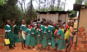 The Water Project:  Line For Latrines