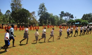 The Water Project : 13-kenya4674-running-to-class