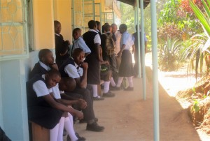 The Water Project:  Form One Students Registering