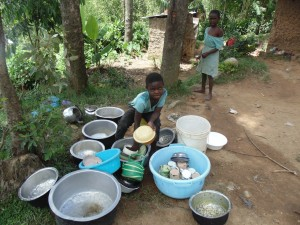 The Water Project:  Child Washing Utensils