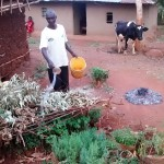 The Water Project: Kidinye Community, Wamwaka Spring -  Zachariah Anavira At His Homestead