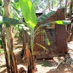 The Water Project: Kidinye Community, Wamwaka Spring -  Traditional Latrine