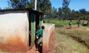 The Water Project : 19-kenya4644-boys-latrines