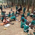 The Water Project: Ebukanga Primary School -  Class Under Trees
