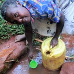 The Water Project: Kidinye Community, Wamwaka Spring -  Joyce Musera