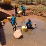 The Water Project: Rosterman Secondary School -  Nearby Spring