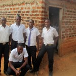 The Water Project: Bumira Secondary School -  Students Pose In Front Of New Classrooms
