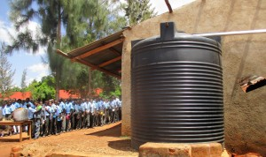 The Water Project:  Plastic Tank And Lunch Line