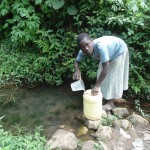 The Water Project: Shiamala Community -  Fetching Water