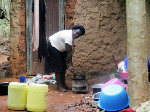The Water Project:  Local Homestead Of Mrs Joan Odere