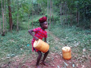 The Water Project:  Trying To Lift Full Jerrycan