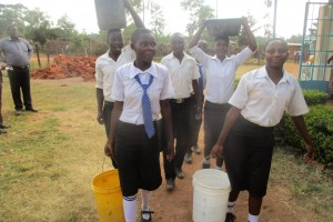 The Water Project:  Fetching Water From The Primary Section