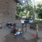 The Water Project : 8-kenya4696-shanila-helping-with-chores