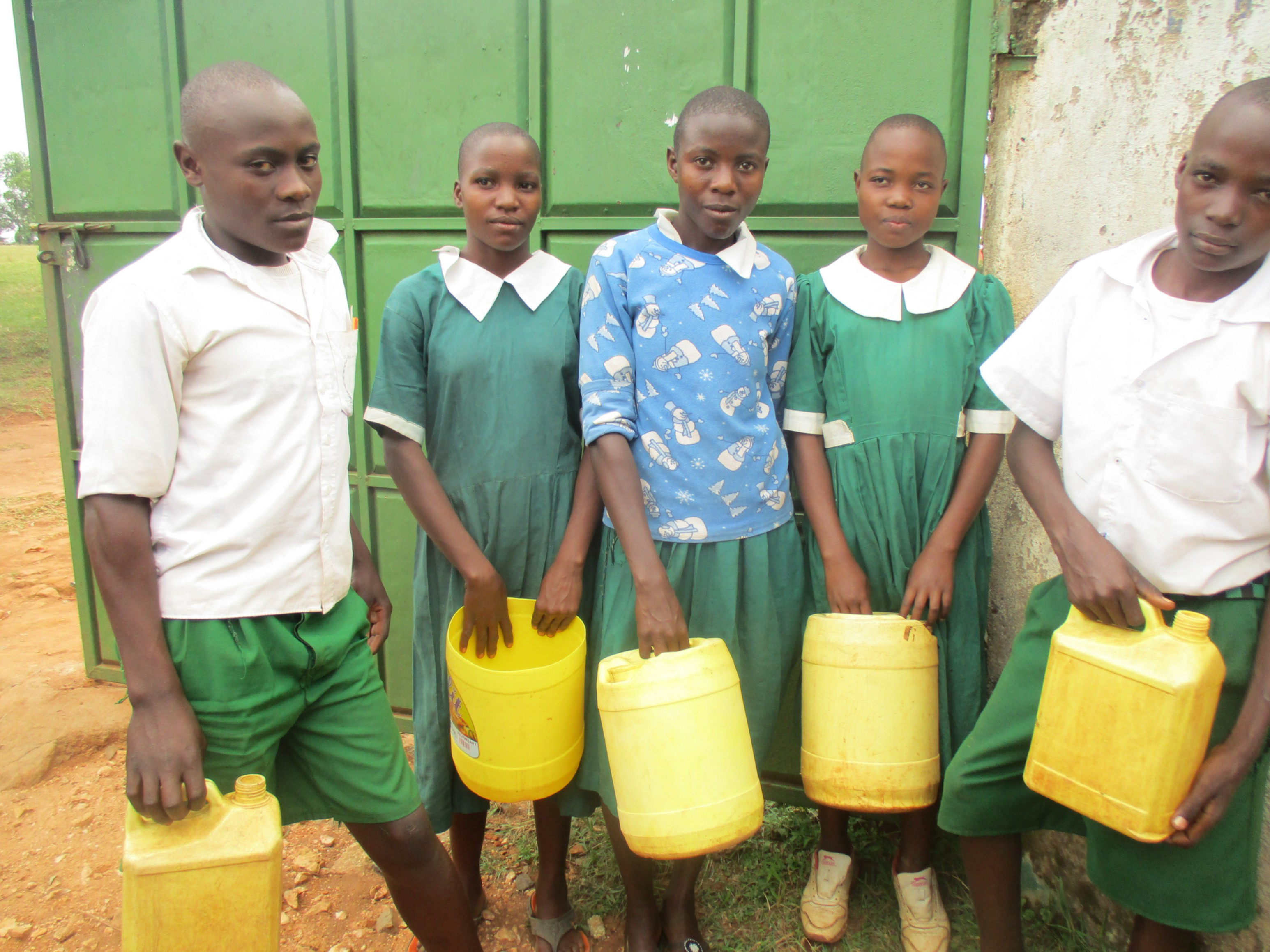 The Water Project : 9-kenya4632-students-with-jerrycans