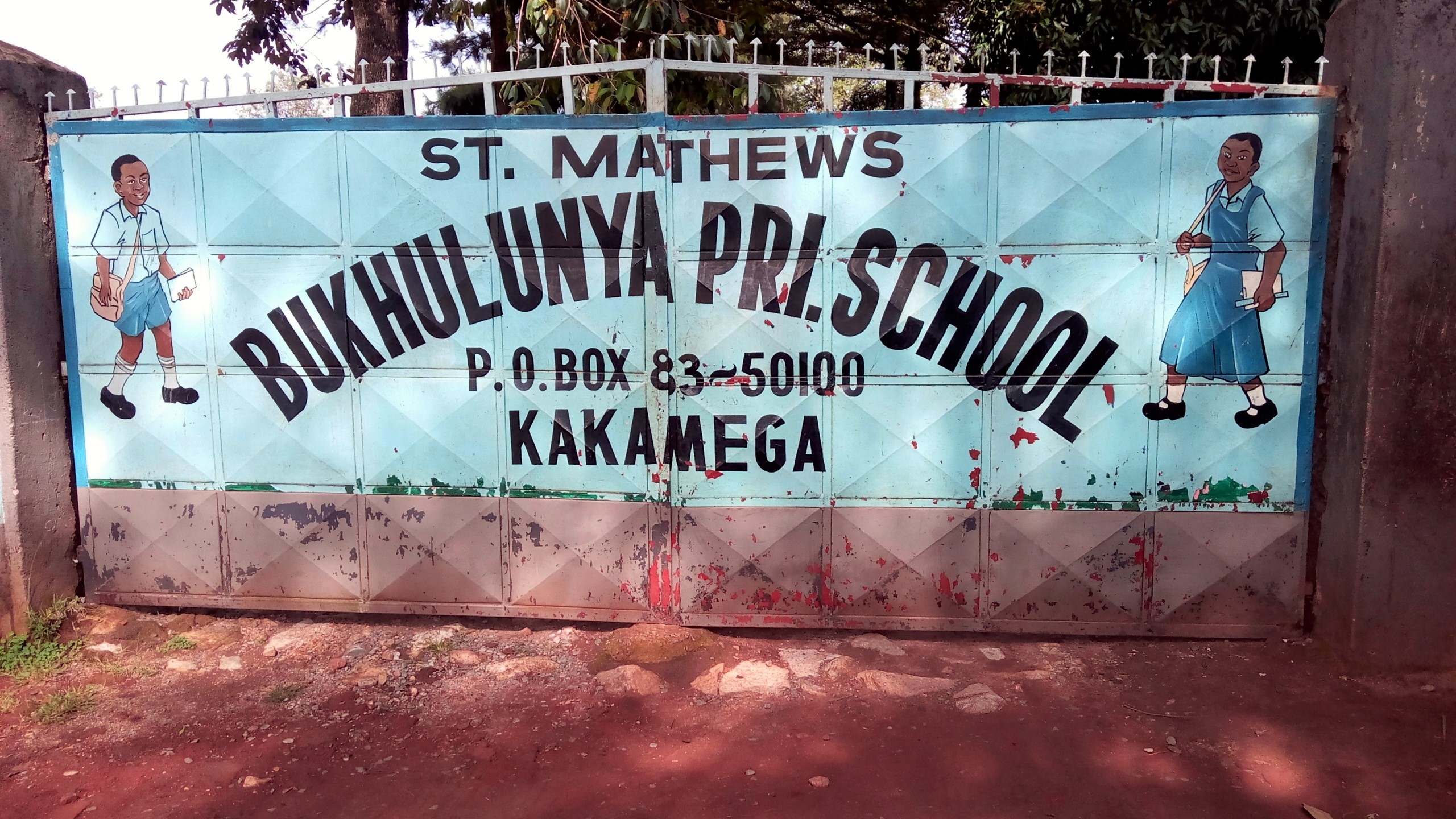 The Water Project : 1-kenya4652-school-entrance