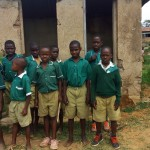 The Water Project: Kalenda Primary School -  Boys At Latrines
