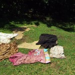 The Water Project: Emarembwa Community -  Clothes Drying On Ground