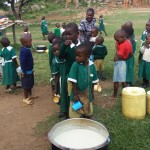 The Water Project: Kalenda Primary School -  Waiting For Porridge