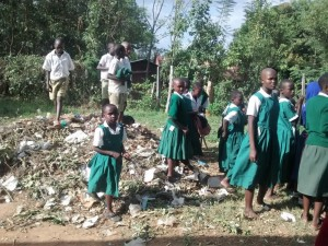 The Water Project : 13-kenya4658-children-playing-around-garbage