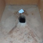 The Water Project: Matende Girls High School -  Inside Latrine