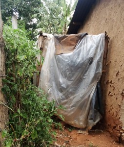The Water Project:  Improvised Latrine