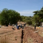 The Water Project: Katitu Community A -  Sand Dam Construction
