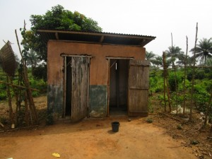 The Water Project:  Sierraleone Teacher Quarters Toilet