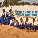 The Water Project: Matende Girls High School -  Students Posing With Teachers At The Gate