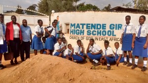 The Water Project:  Students Posing With Teachers At The Gate