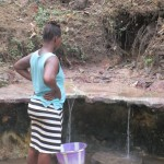 The Water Project: Petifu Junction Community -  Fetching Water