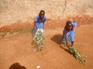 The Water Project : 3-kenya4649-students-clean-the-compound
