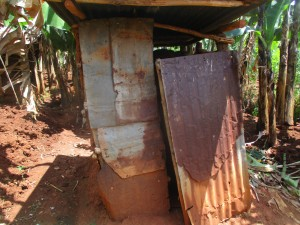 The Water Project : 3-kenya4719-latrine-made-from-iron-sheets