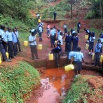 The Water Project: Digula Secondary School -  Students Wait At The Spring