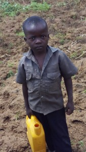 The Water Project:  Ben Waiting To Fetch Water