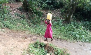 The Water Project:  Carrying Water On Head