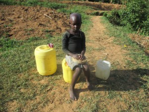 The Water Project:  Community Member Waiting To Fetch Water