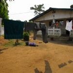The Water Project: Tintafor, Officer's Quarters Community -  Clothes Line