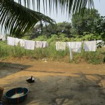 The Water Project: Tintafor, Officer's Quarters Community -  Clothesline