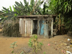 The Water Project:  Latrine Outside