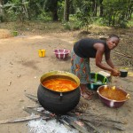 The Water Project: Ponka Village -  Preparing Palm Oil
