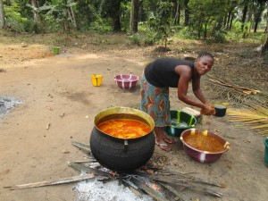 The Water Project:  Preparing Palm Oil